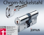 BKS Janus 46 Freilaufzylinder Version Chrom-Nickel-Stahl